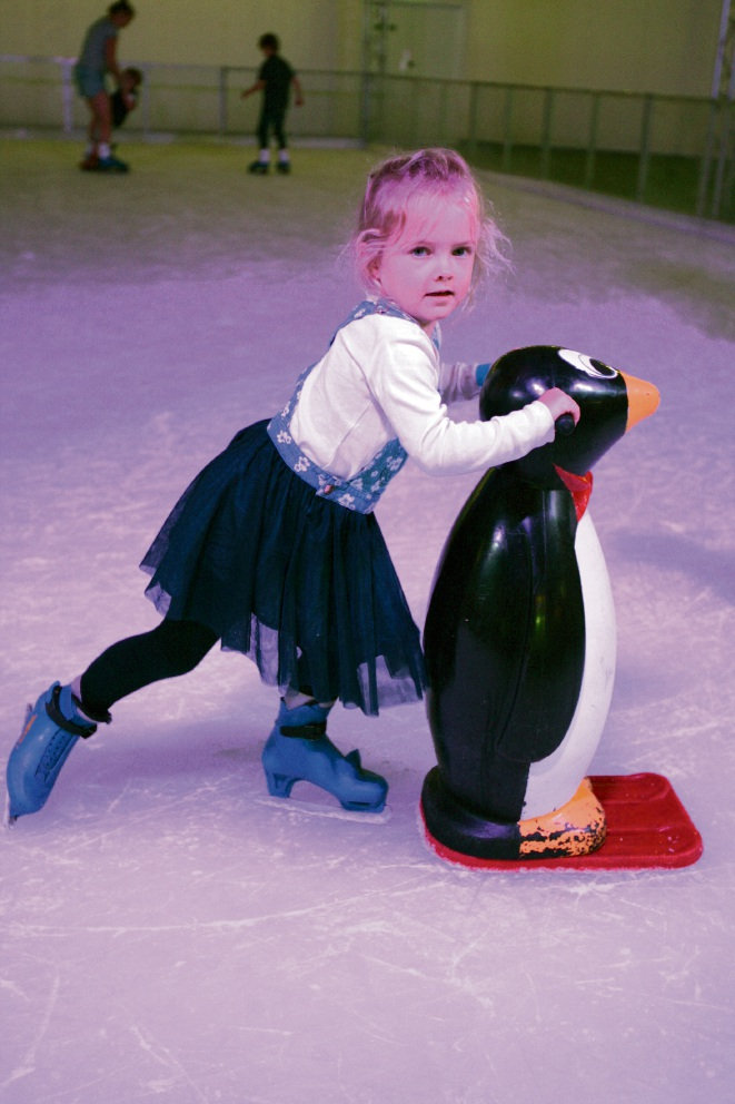 Skaters hit Frostival ice rink at Lakeside Joondalup