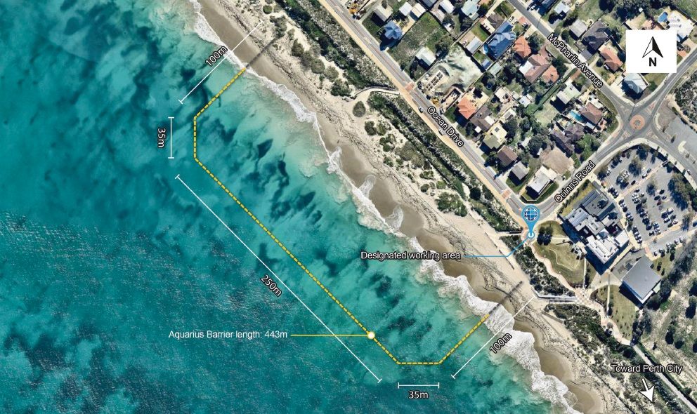 City of Wanneroo to install shark barrier at Quinns Beach