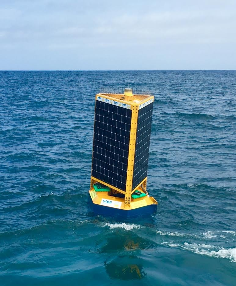 One of the Clever Buoys to be trialled at City Beach from today.