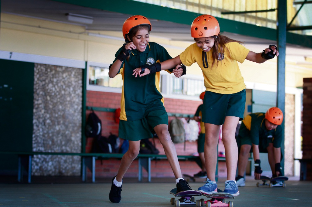 City of Gosnells teams up with Skateboarding WA to run clinics for school kids