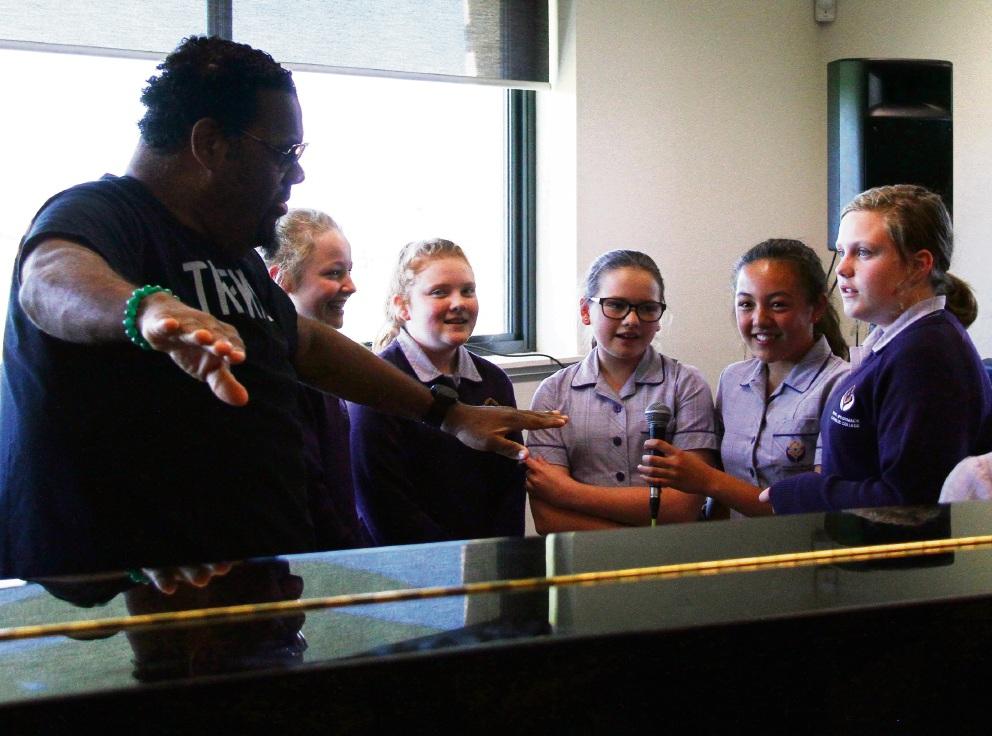 Butler: Irene McCormack Catholic College students rub shoulders with Fatman Scoop