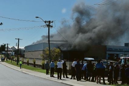 Lane Ford in Mandurah on fire.