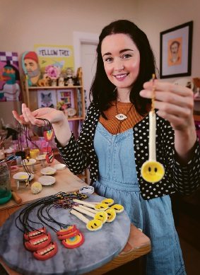 Laurie Melia of Bassendean with her Make For Good range of ceramic items. Picture: David Baylis