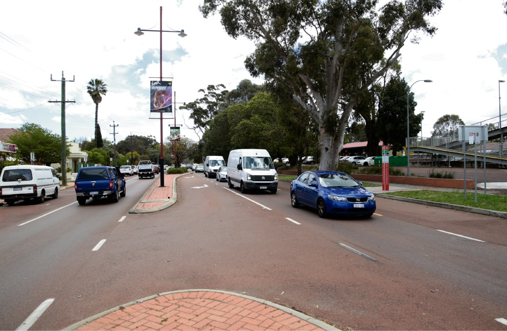 The State Government will be funding the construction of a signalised pedestrian crossing on James Street in Guildford, near the Guildford Train Station. Picture: David Baylis