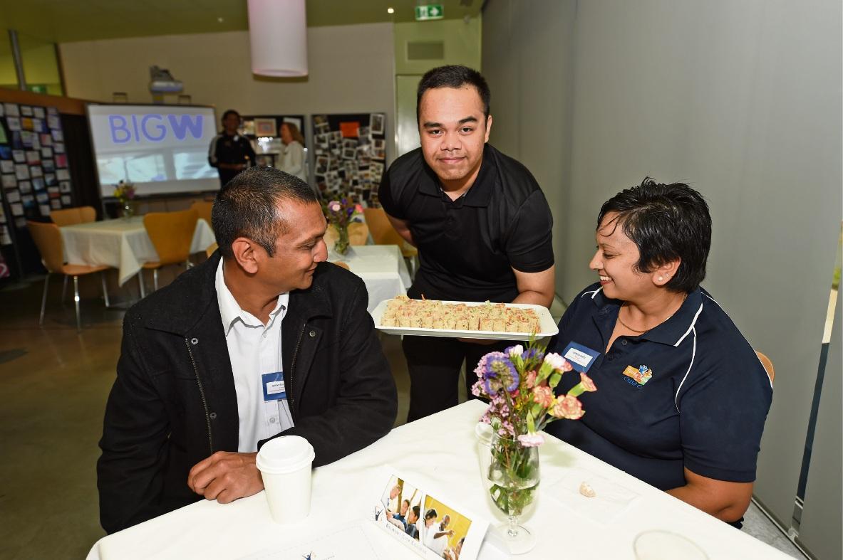 Bhav Patel, Rafiq Amrudin and Sumita Patel.  Picture: Jon Hewson