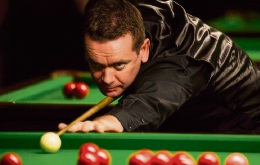 Peter McCullagh in the zone as he competes during a recent snooker tournament.