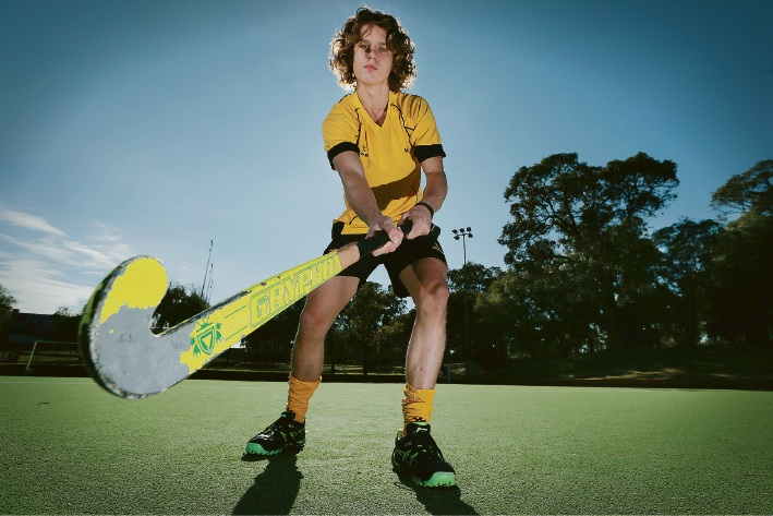 Aiden Lowes has been selected in the Australian indoor hockey squad. Picture: Andrew Ritchie