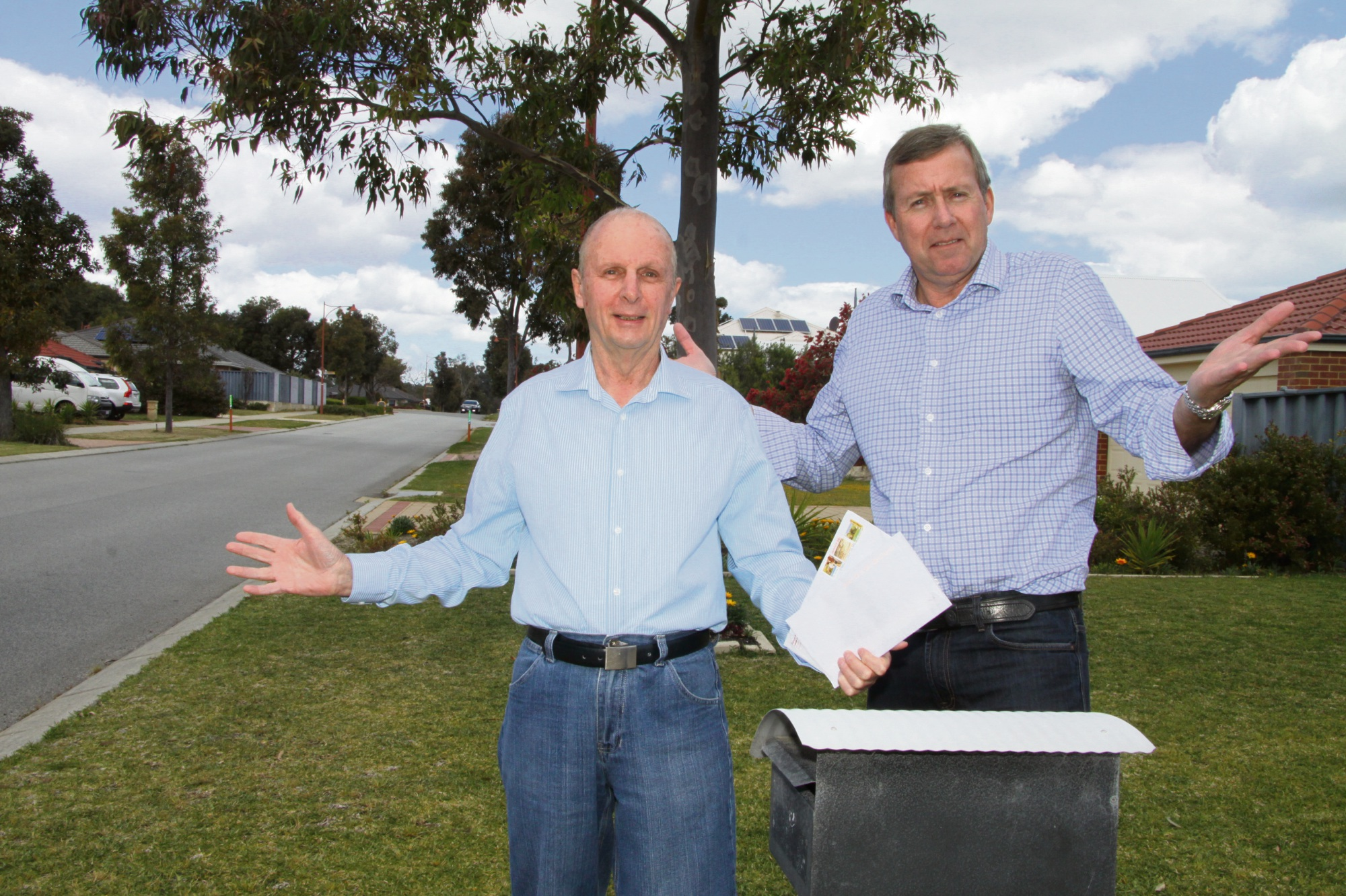 Baldivis resident Rod Adams with Baldivis candidate Reece Whitby.