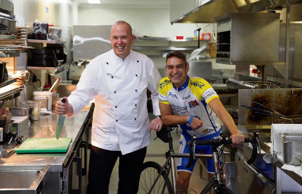 Phil Waldron (executive chef at Joondalup Resort) with Jeremy Watkins (from Karrinyup).
