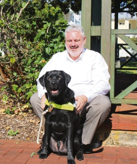Blind barrister Barry Murray says guide dogs have given him a confidence boost