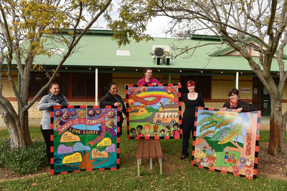 Inspiring artwork at Leda Primary School