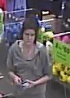 The man and woman police would like to speak to in relation to stealing and fraud offences.