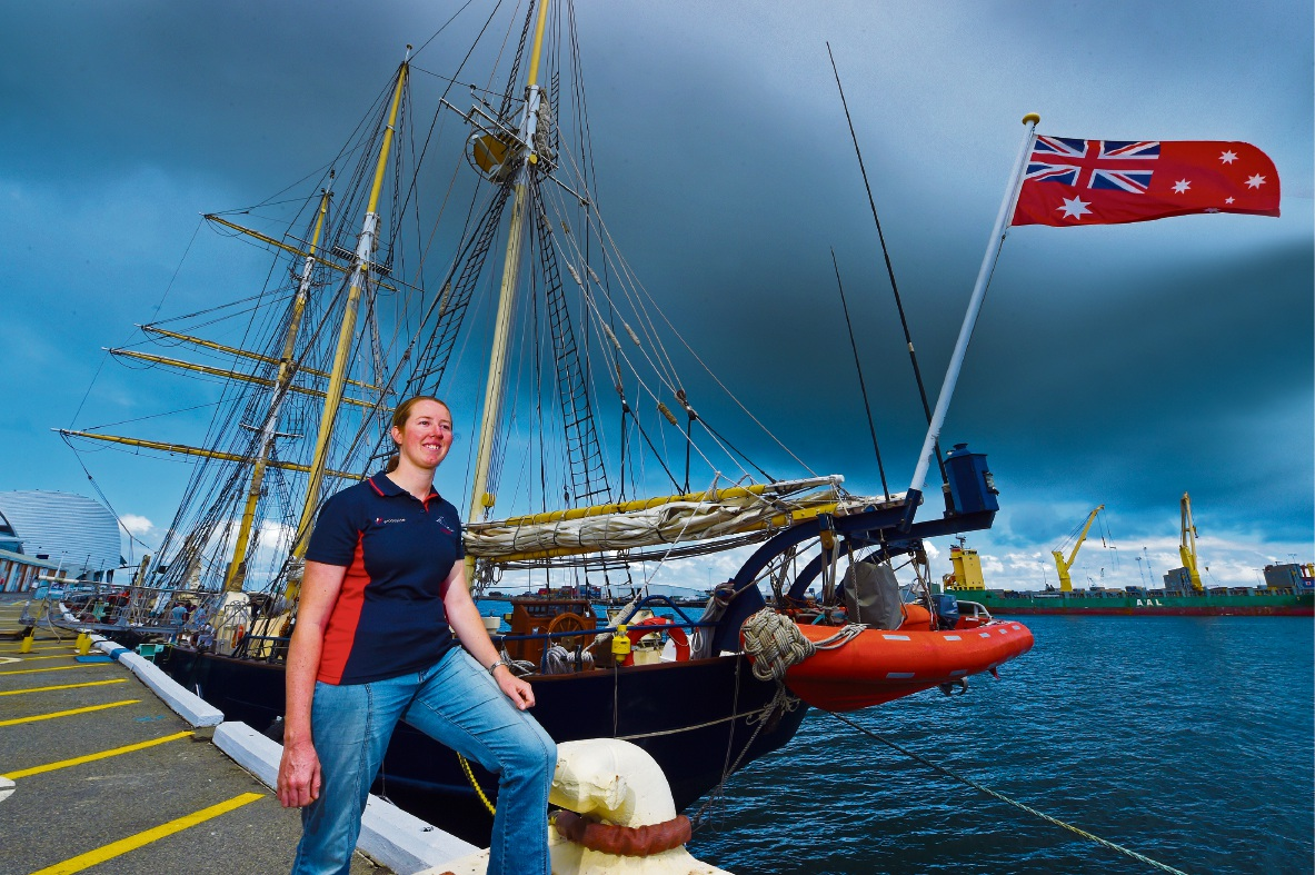 STS Leeuwin II member named Trainee of the Year at International Sail Training and Tall Ships Conference
