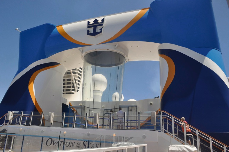 Ovation of the Seas swimming in opulence