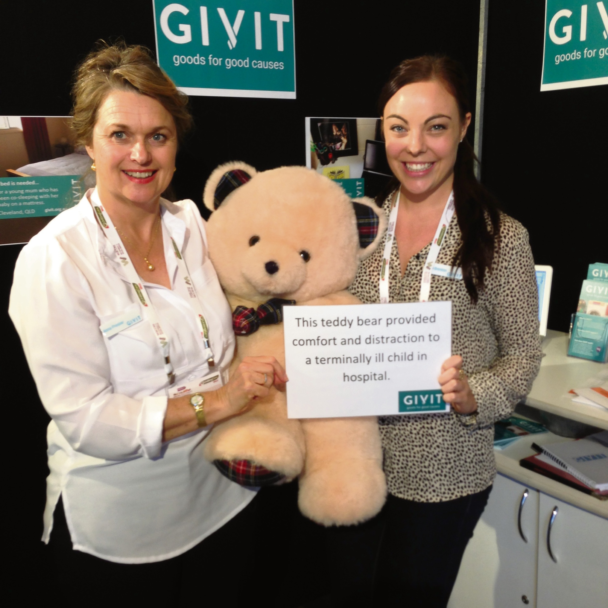 GIVIT's WA state manager Anna Presser (left) and national communications manager Kayla Brereton.