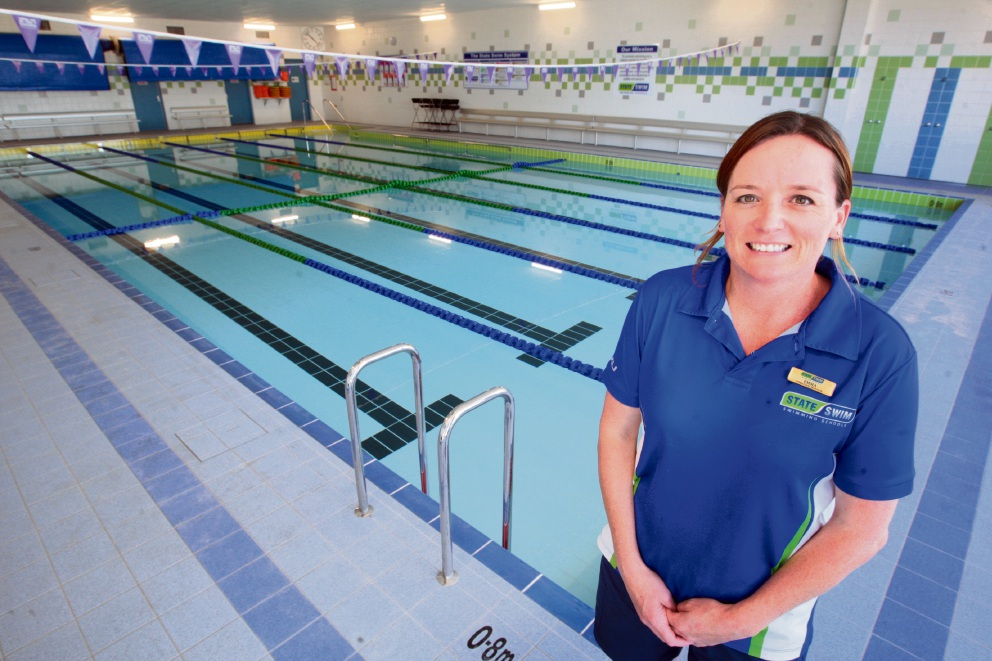 Manager of State Swim at the new Butler swimming pool Emma Hillier. Picture: Bruce Hunt