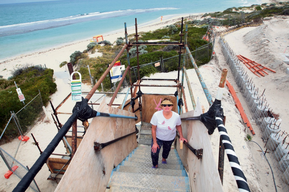 The vacant Yanchep Surf Life Saving Club building site.