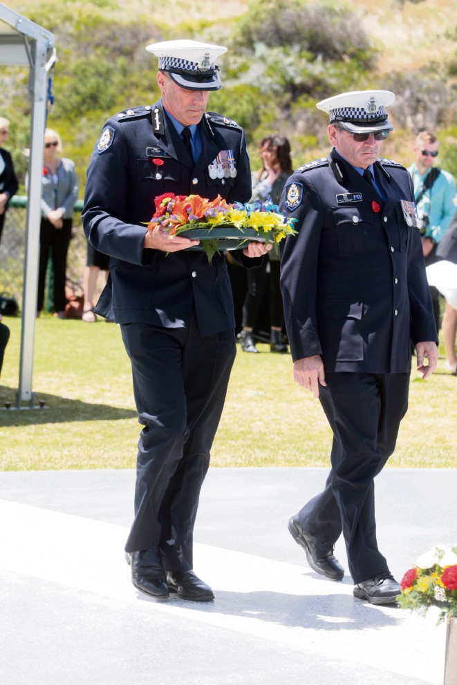 District Superintendant Paul Dallimore and Inspector Dale Bell. Picture: Bruce Hunt.