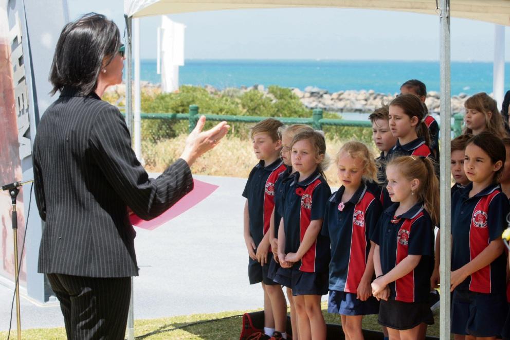 Ocean Reef Rimary School choir. Picture: Bruce Hunt.