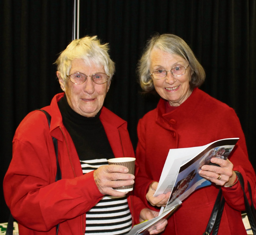 South of the River Seniors Forum 2015 attendees Catherine Glover and Margaret Logan.