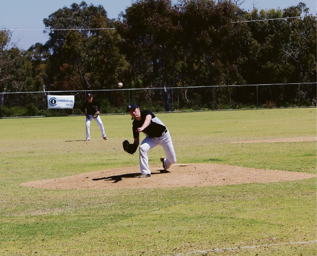 Dillon Clarkson pitching for AAA Grade (Reserves). Picture: Aimee Winter