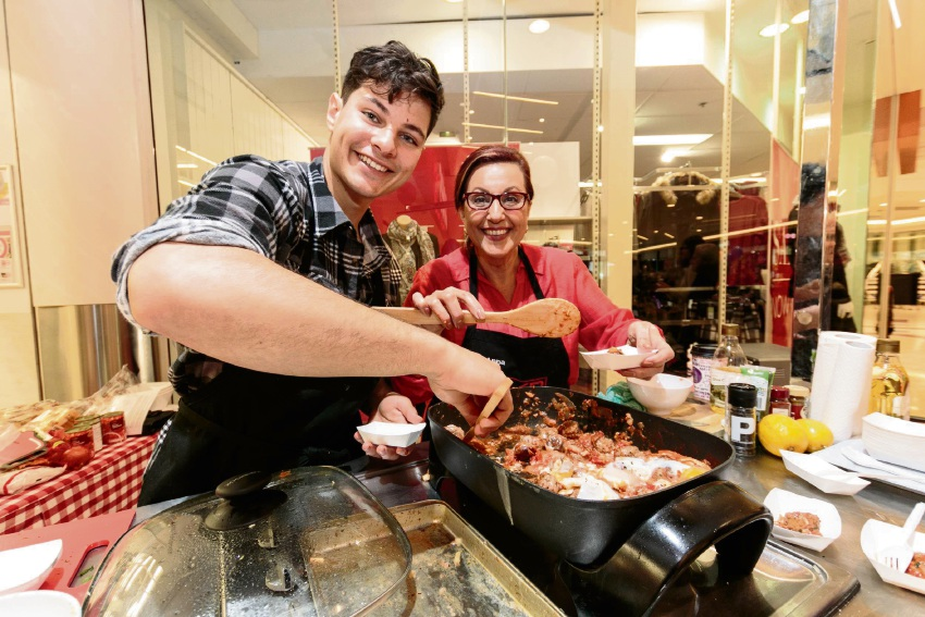 Popular mother and son team Anna and Jordan Bruno from My Kitchen Rules.