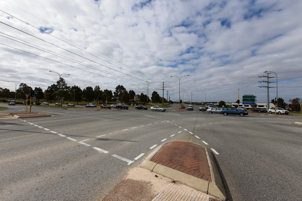 The Wanneroo Road and Joondalup Drive intersection. Picture: Will Russell.