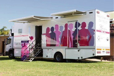 BreastScreen WA's mobile clinic.