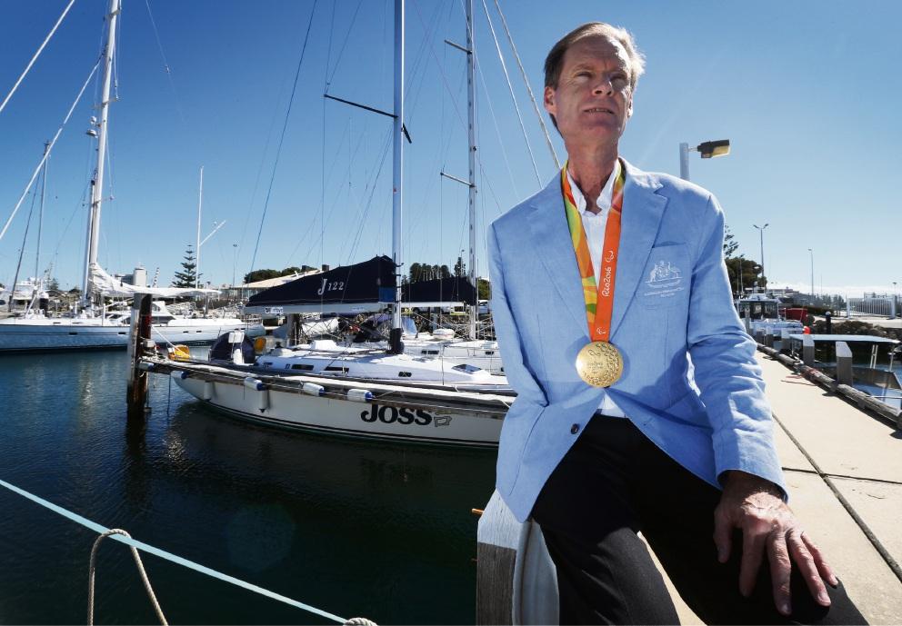 Paralympian and gold medal winner Colin Harrison. Picture: Matt Jelonek.