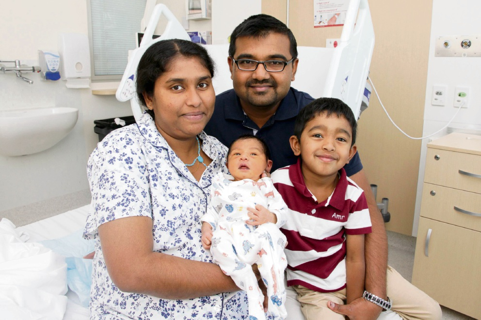 New Year surprise: Baby Quickson arrived 10 days early after an emergency caesarean operation.