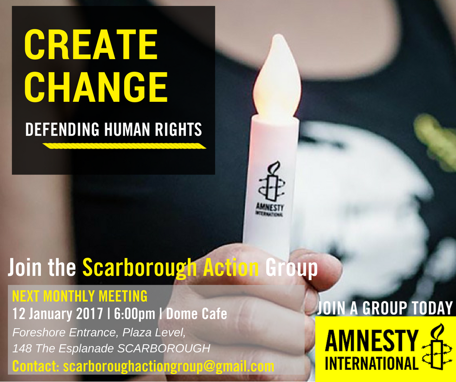Amnesty International Scarborough: Action Group Meeting