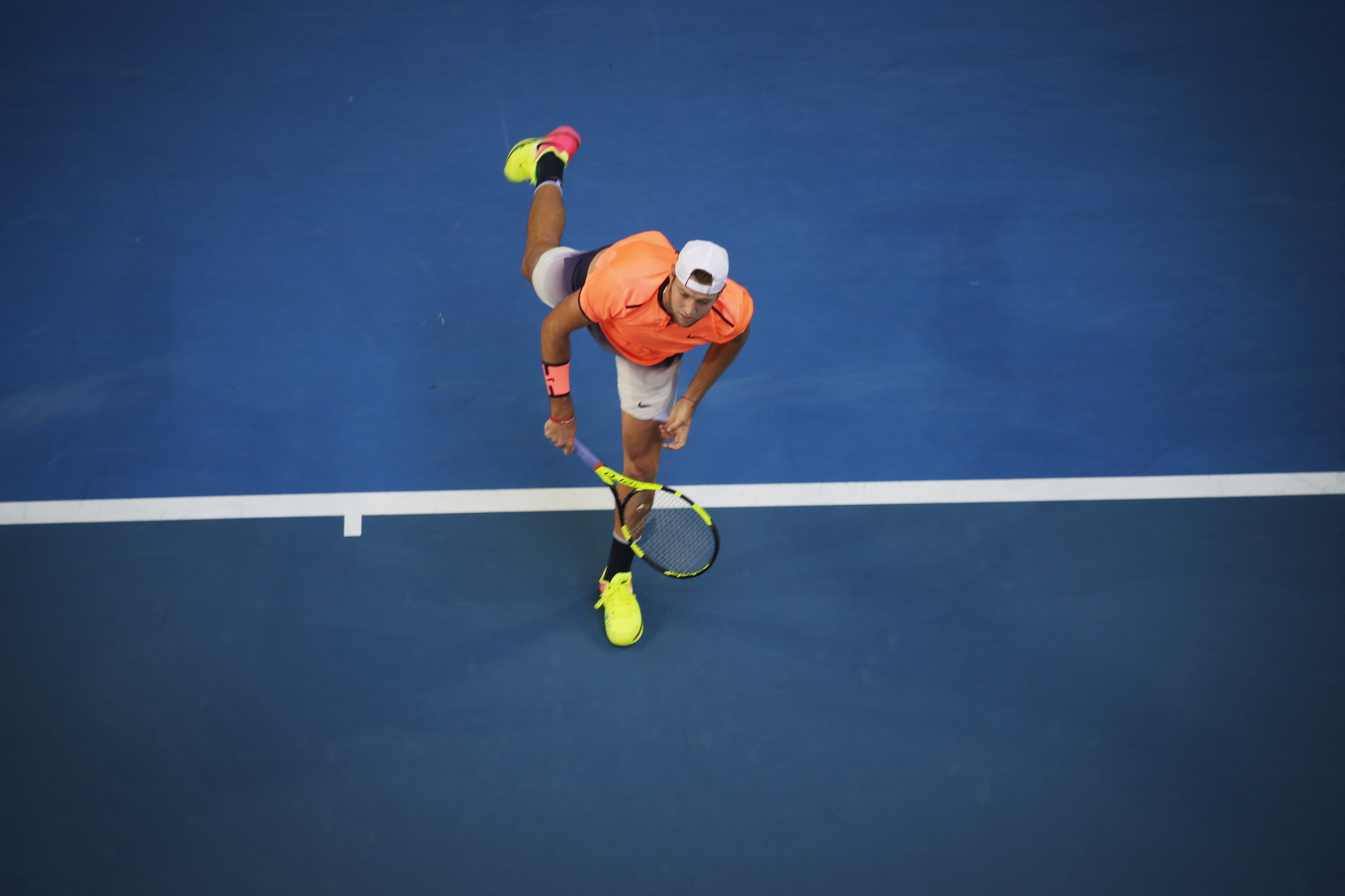 Pictured  Jack Sock (USA)  in the Hopman Cup final against Richard Gasquet (France)