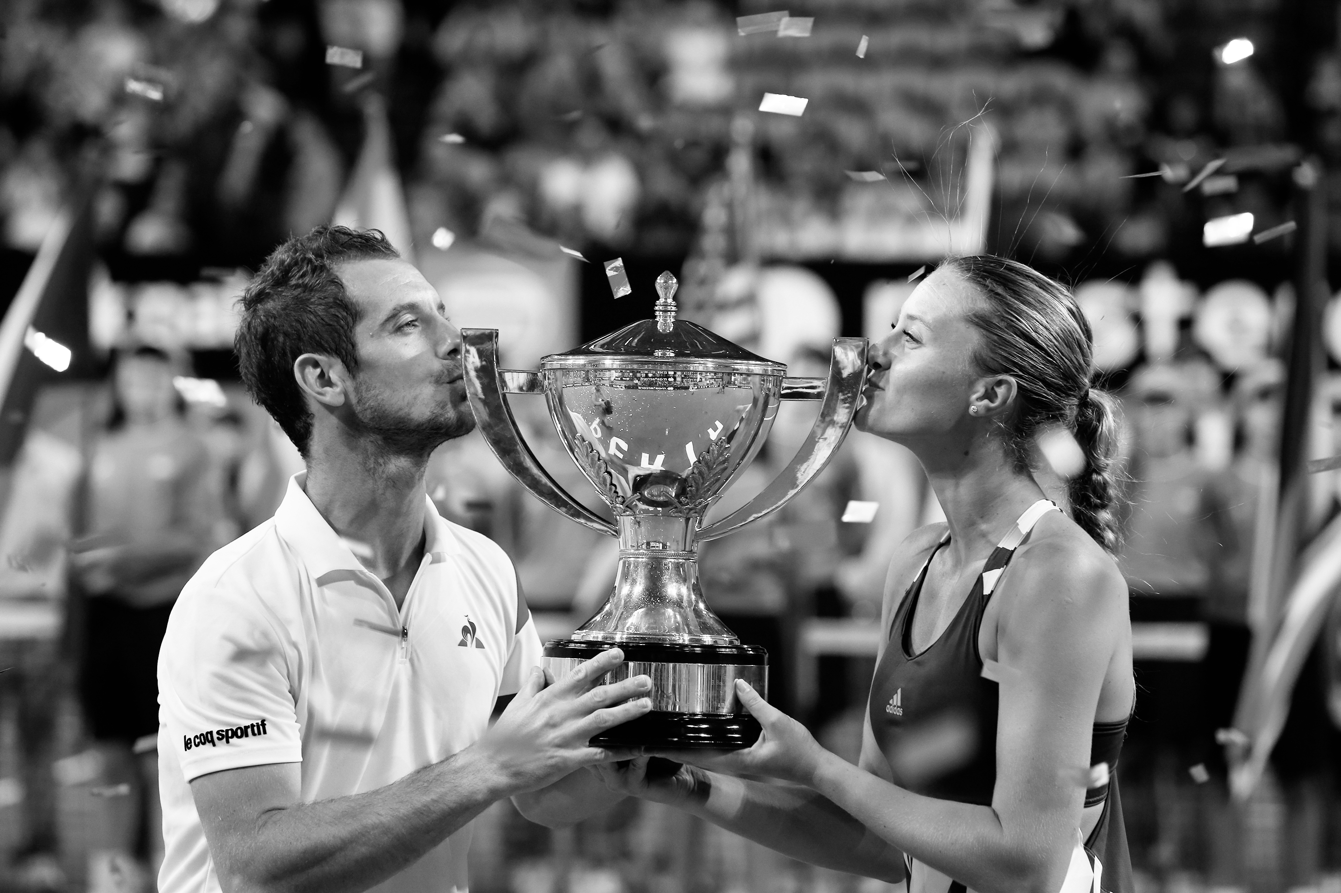 Kristina Mladenovic and Richard Gasquet (France) winners of the 2017 Hopman Cup
