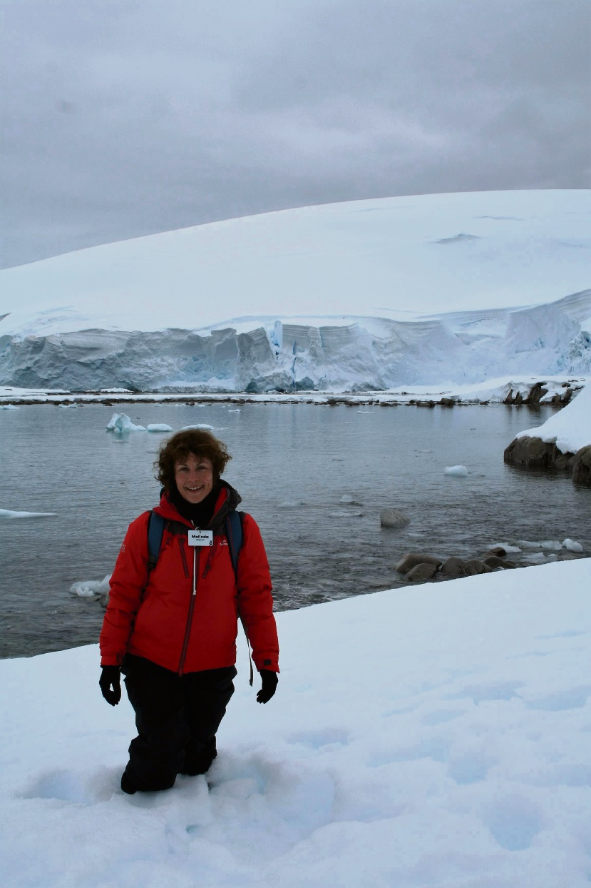 Ice, ice, baby: UWA professor Melinda Fitzgerald had the experience of a lifetime when she visited Antarctica. Pictures: Melinda Fitzgerald Glaciers were among the amazing sights that Mrs Fitzgerald saw on her trip.