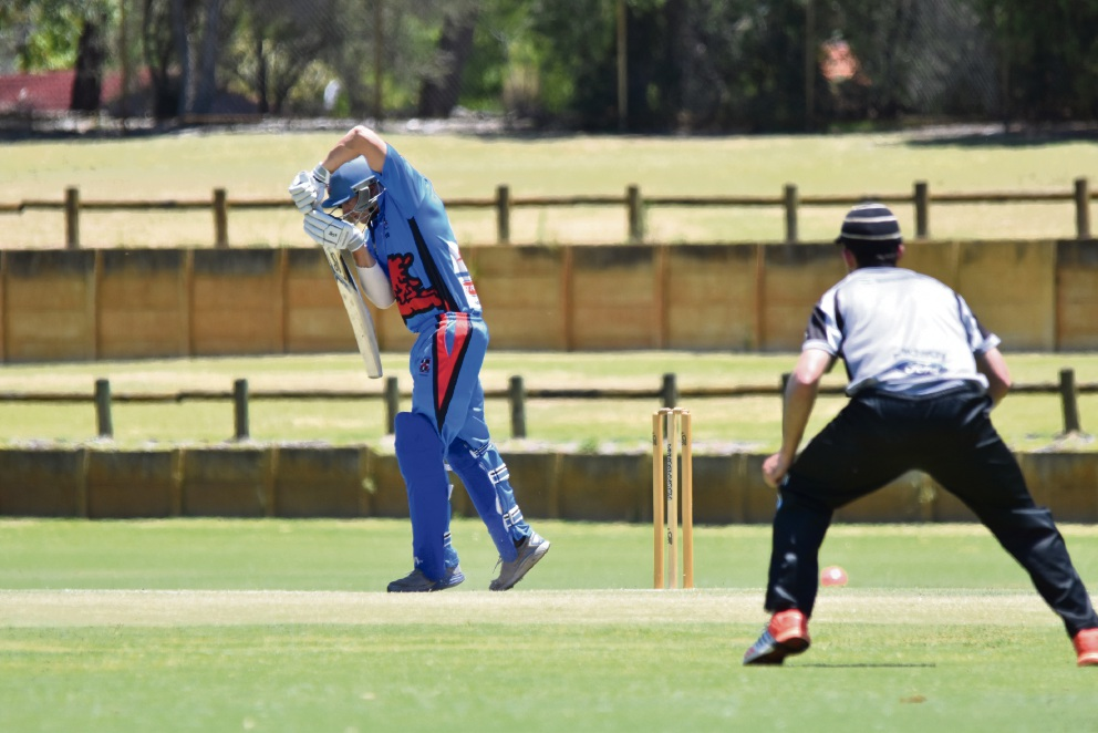 Willetton at the crease and in the field.