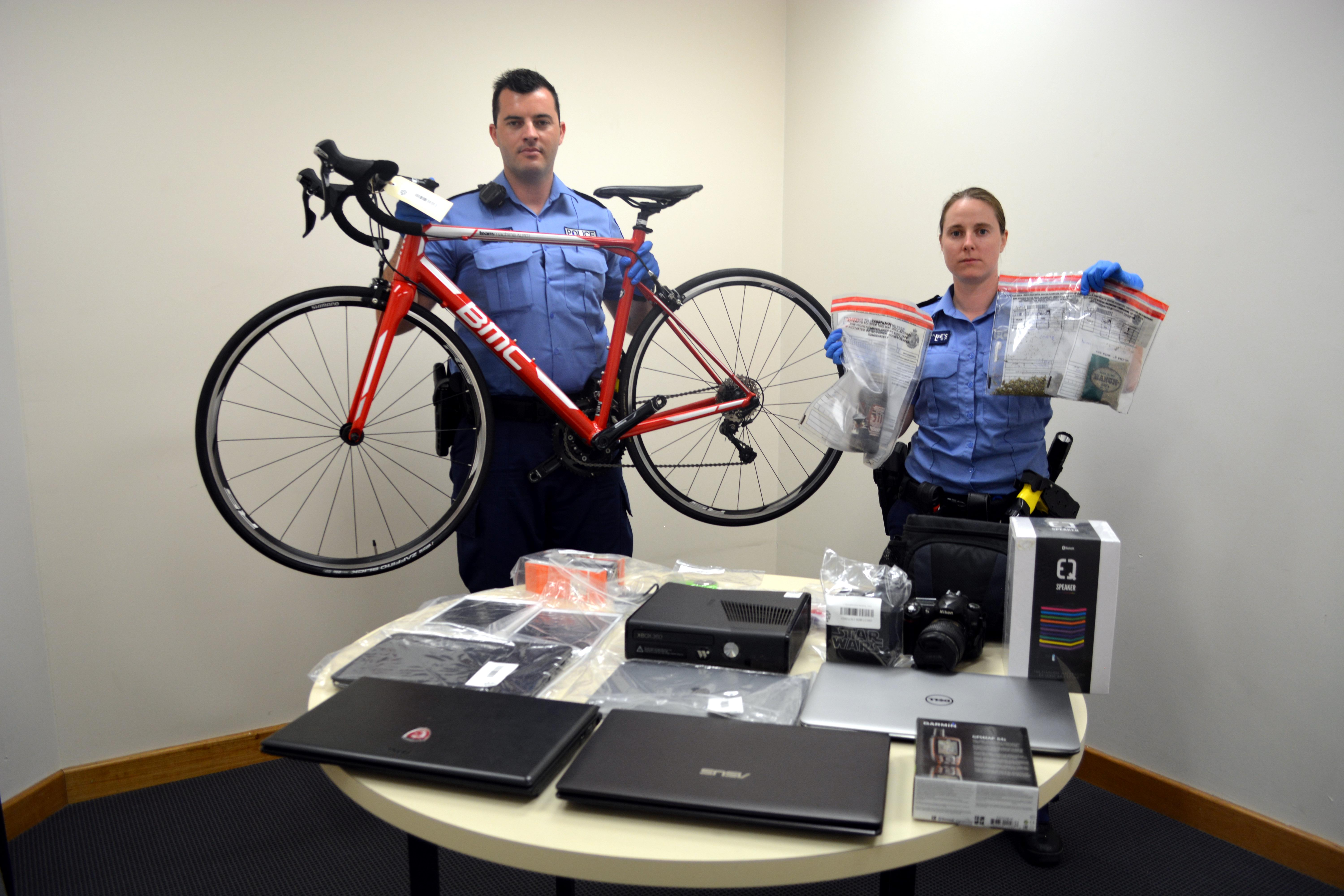 Drugs, stolen property recovered after raid on Maylands home