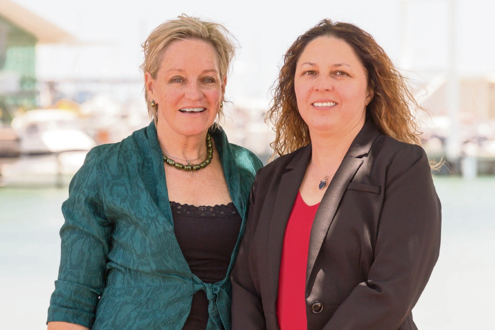 Alannah MacTiernan with Hillarys Labor candidate Teresa Ritchie.
