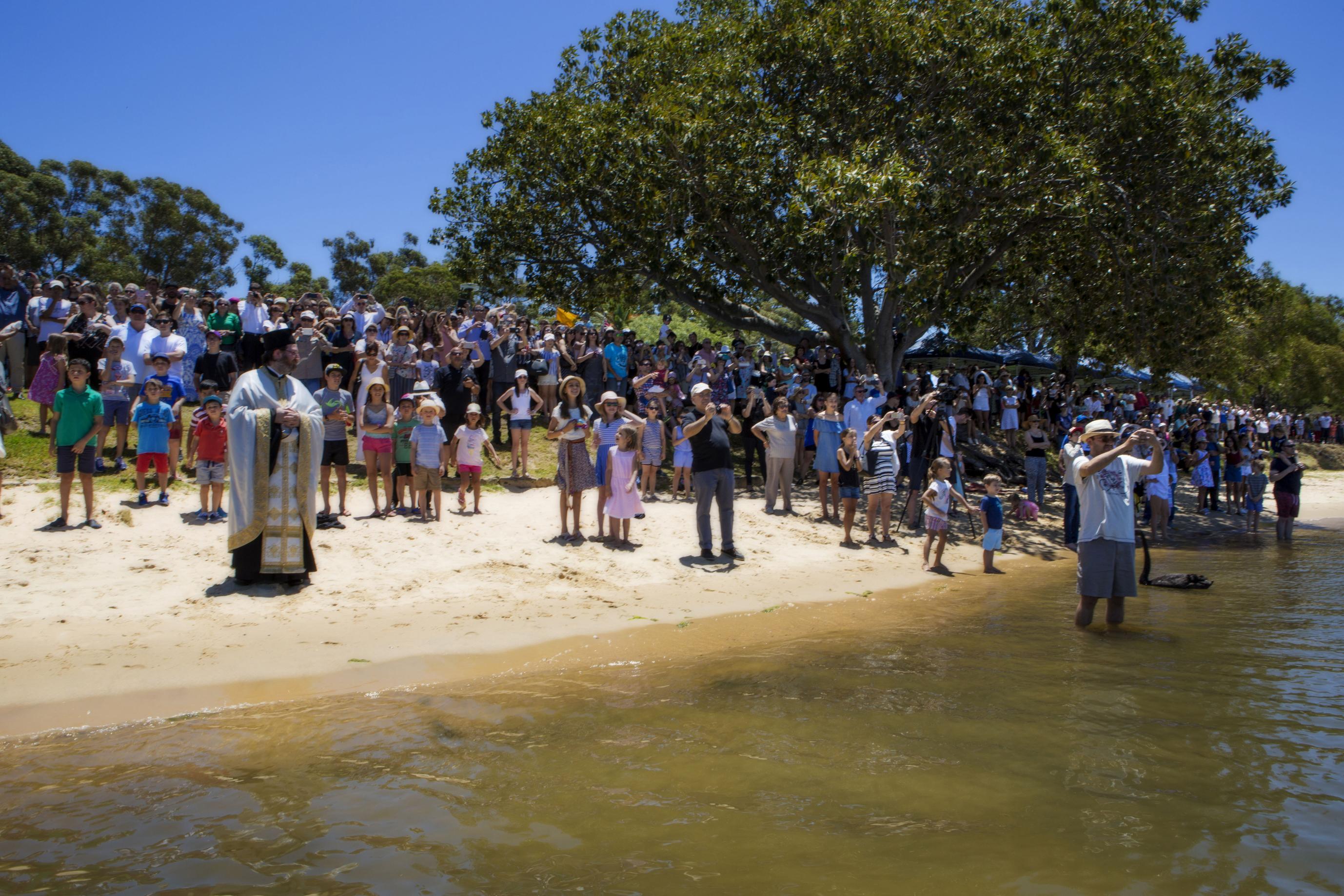 The Greek Orthodox community celebrates Epiphany Day at Matilda Bay.