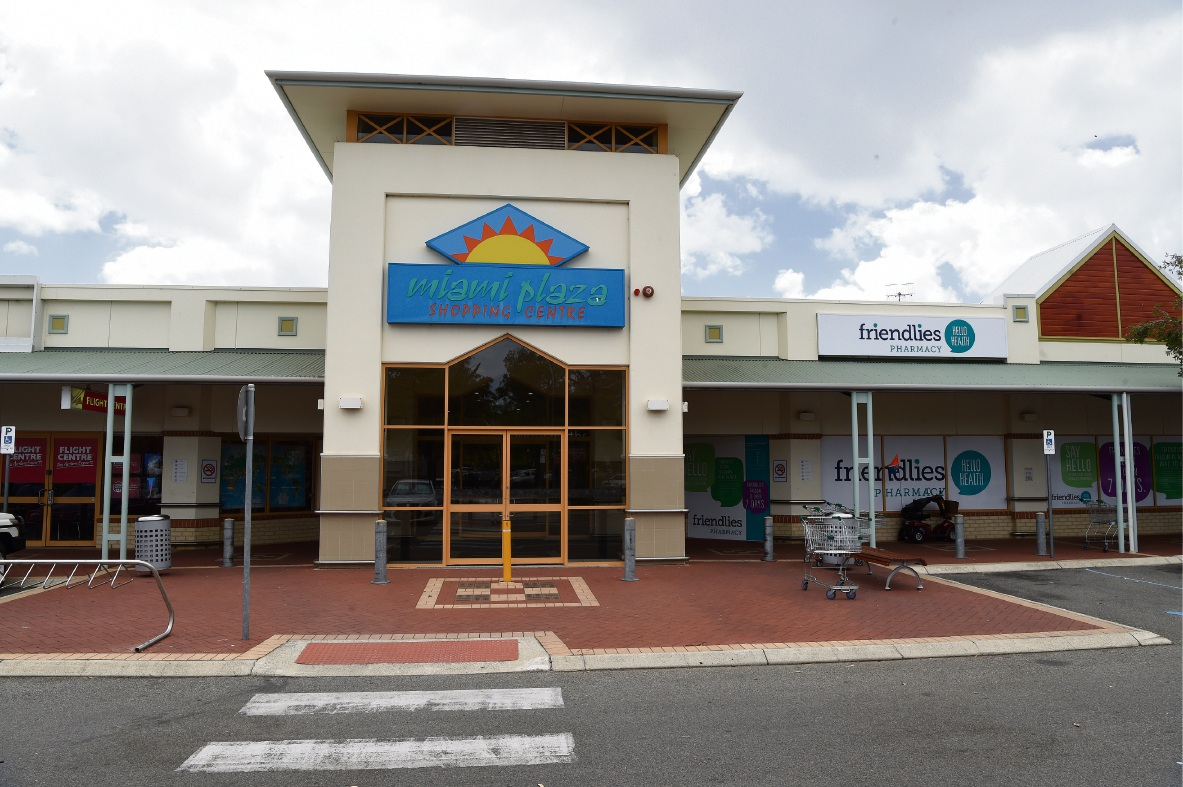 Miami Plaza Shopping Centre in Falcon. Picture: Jon Hewson.