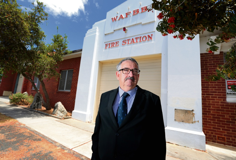 Mike Smith at the old Bassendean Fire Station. Picture: David Baylis