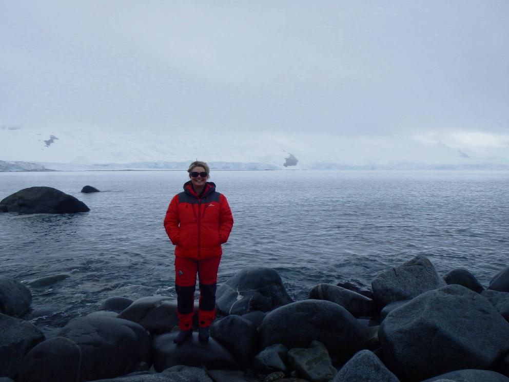 Amanda Davies in Antarctica.