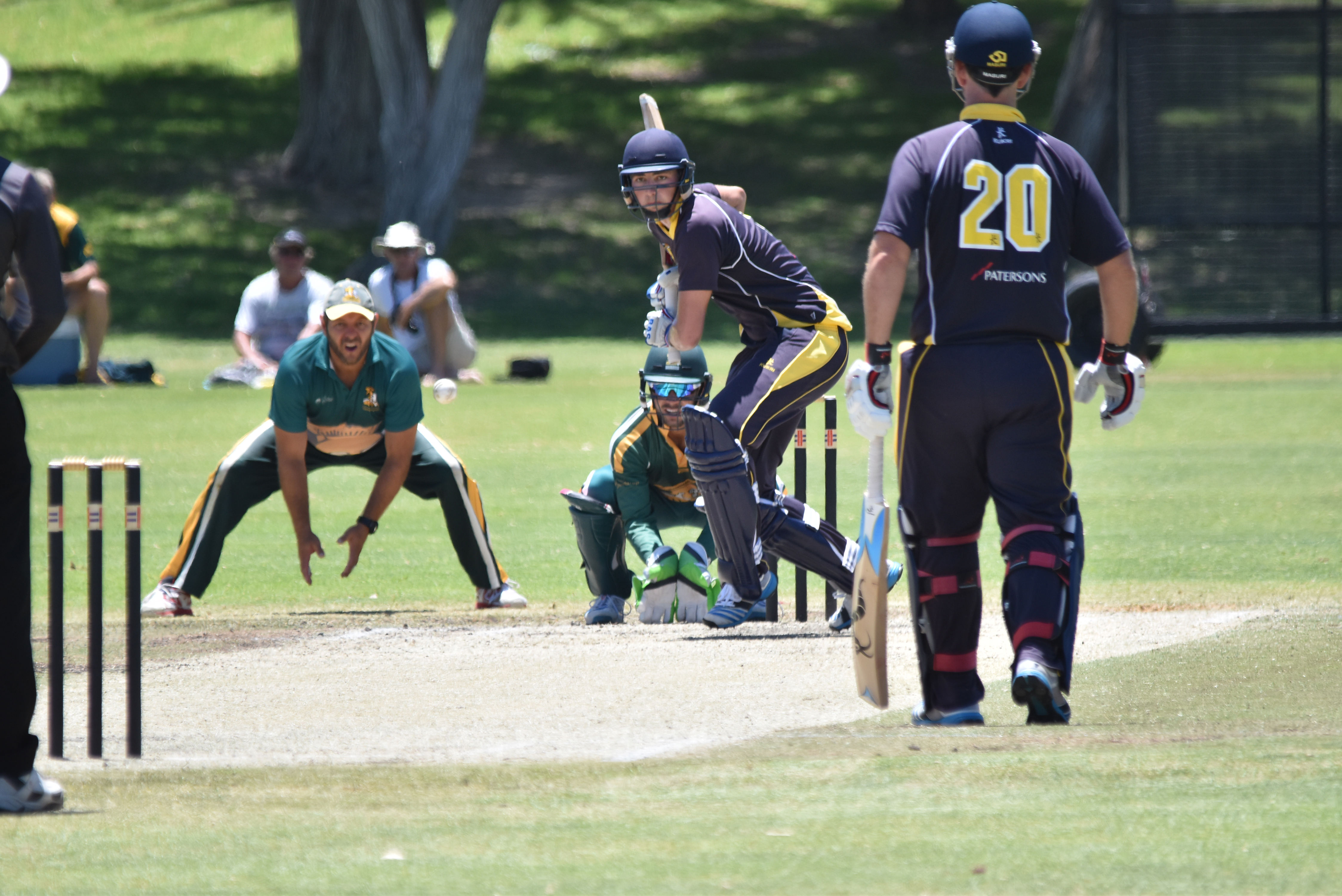 Claremont-Nedlands batting against Joondalup.