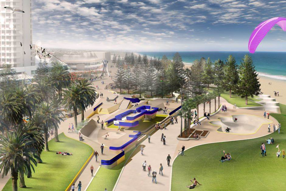 An artist's impression of the new Scarborough foreshore.