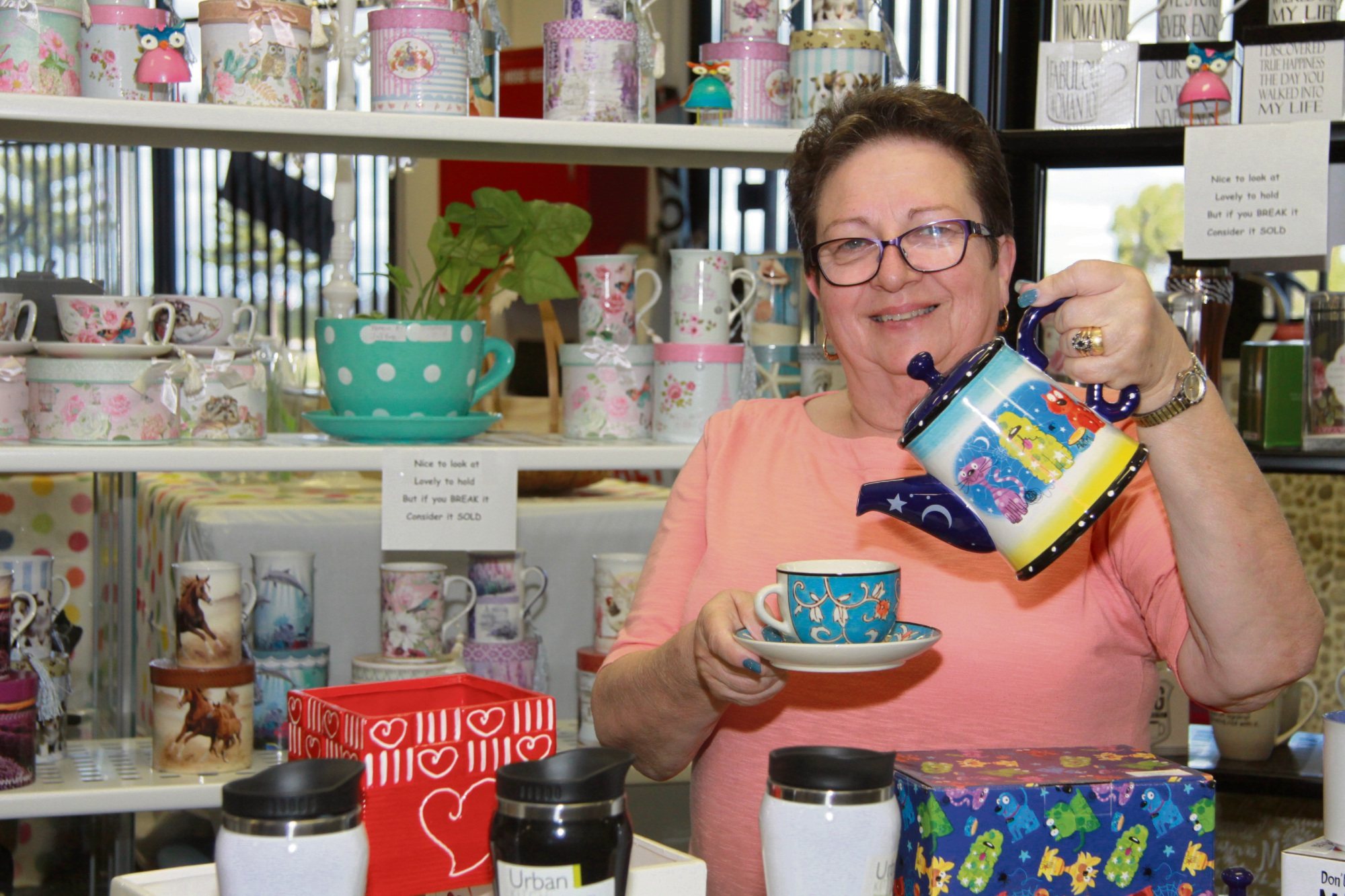 Sue Griffin shows off her favourite market stall.