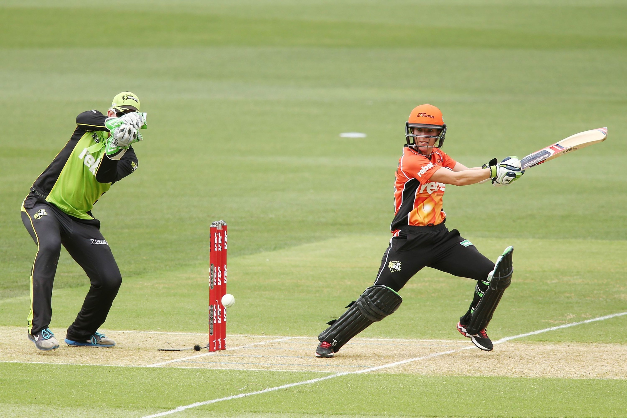 Chloe Piparo during the Women's Big Bash League semi-final against Sydney Thunder at Adelaide Oval on January 21. Picture: Morne de Klerk/Getty Images