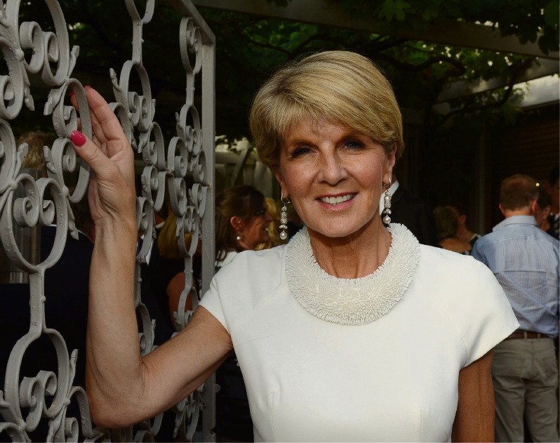 Julie Bishop at her electorate Christmas Party last Thursday. Picture: Jon Bassett.