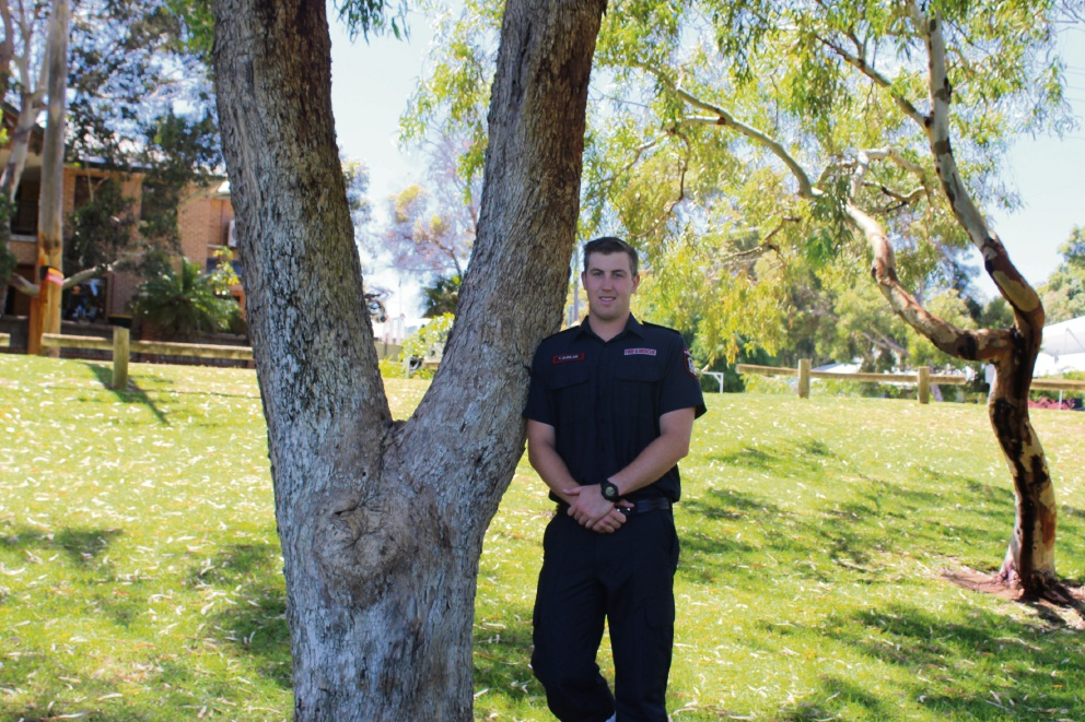 Claremont Fire Station's newest recruit Tim Quinlan.