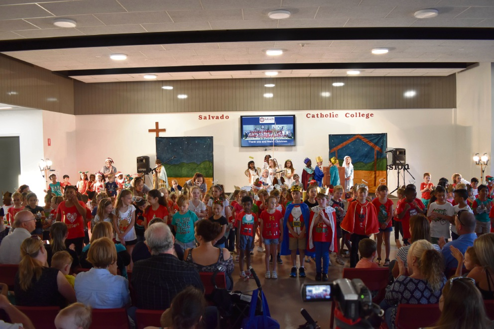Salvado Catholic College students perform a carols concert.