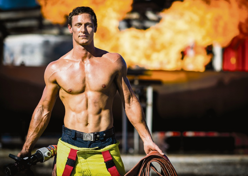 Steve Choate is the 2017 Perth Firefighters Calendar's December poster boy.