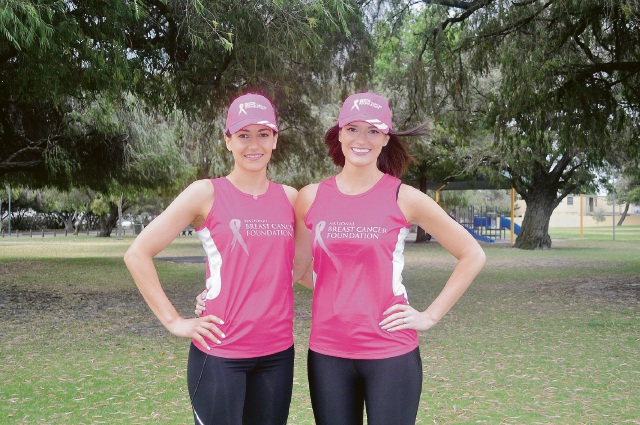 Yangebup resident Beck Page and Como resident Mel Wedge are keen to raise money for the National Breast Cancer Foundation.